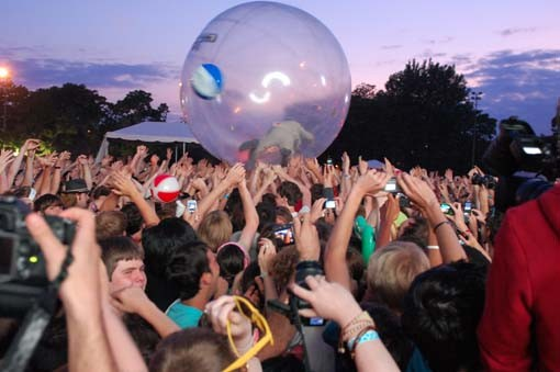 From the Flaming Lips' show on Sunday night at Pitchfork Music Festival in Chicago.