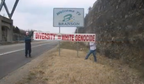 The White Man March stops in Branson for a show. - YOUTUBE