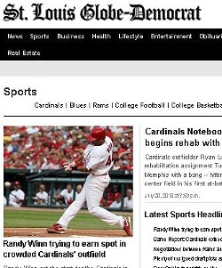 Today's Globe-Democrat sports' section still has stories from yesterday. - GLOBE-DEMOCRAT.COM