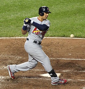 Jon Jay wins our Worst Plate Appearance of the Night award. - COMMONS.WIKIMEDIA.ORG