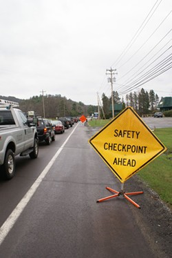 Since 2007, state troopers have arrested more than 2,000 people at checkpoints near Camp Zoe - IMAGE VIA