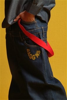 Note the upper and lower waistbands (and four-pocket front) of the original Bagg'ns design. - BAGGNS.COM