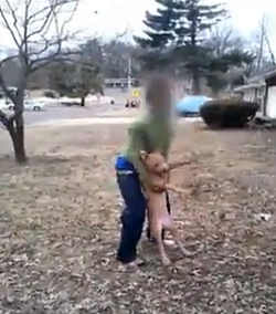 A St. Louis County teen posted a video of him abusing a pit-bull puppy on Facebook. - YOUTUBE