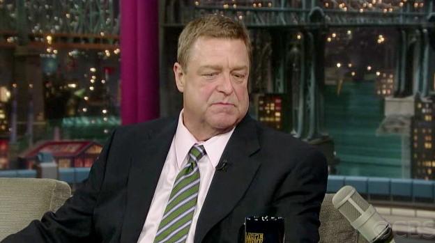 Goodman on Letterman last night. Click for larger version.
