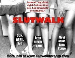 Poster for SlutWalk Toronto
