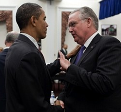Barack Obama and Jay Nixon. - VIA WHITEHOUSE.GOV