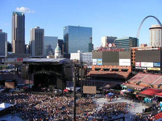 The scene at Busch Stadium before the Eagles/Dixie Chicks show. - KATIE MOULTON