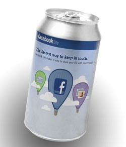 Facebook Lite! Tastes Great with Less Spam! - PHOTO ILLUSTRATION BY BILL STREETER