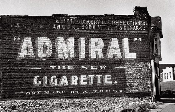 Like many St. Louis wall signs, this tobacco ad fell prey to blight when the building that housed it came crumbling down. - PHOTOS: WM. STAGE