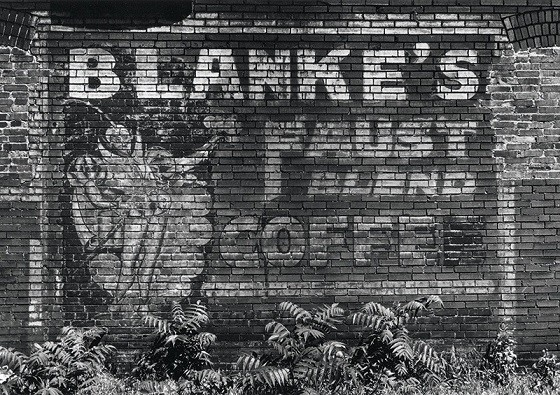 An ad for Blanke's Coffee survived for decades after the St. Louis coffee company shuttered. - PHOTOS: WM. STAGE