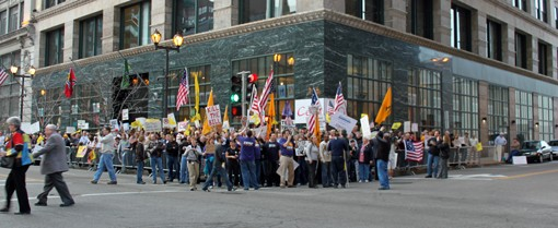 It's not 2008 anymore, and that's not a friendly crowd welcoming Barack Obama to St. Louis.