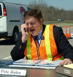 Rahn drew attention to highway work zones in 2006 when he set up his office alongside a Missouri freeway. - MODOT.COM