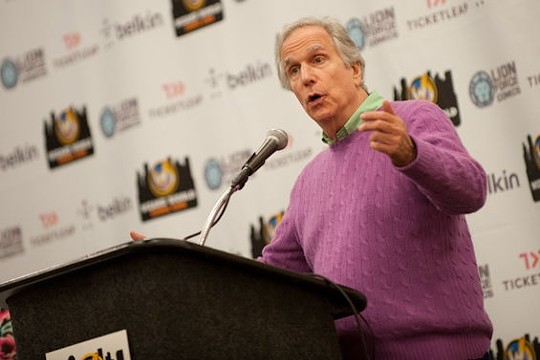 Any day is a happy one when the Fonz is in the house. - JON GITCHOFF