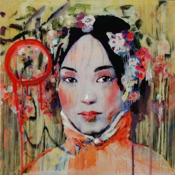 Summertime 1 (Teng Lou), from Hung Liu's Za Zhong (Bastard Paintings) at Bruno David Gallery. - HUNG LIU