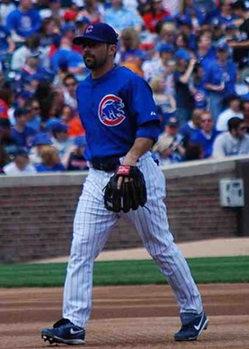 That's right. Aaron Miles in a Cubs uniform. Look at it! LOOK AT IT!!!!!! - COMMONS.WIKIMEDIA.ORG