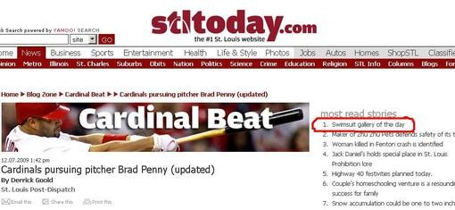 A screen capture from yesterday -- Monday, Dec. 7 - STLTODAY.COM