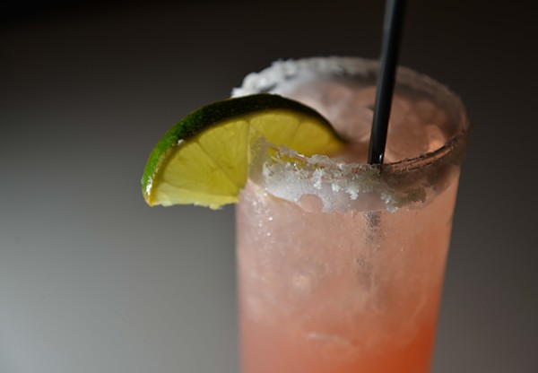 The 'El Camino' margarita features Exótico's Blanco tequila, triple sec and blood orange simple. - TOM HELLAUER