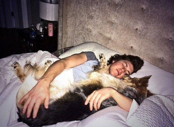 Even the dogs love TJ. - TWITTER/TJ OSHIE