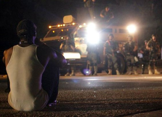 The night of the arrests in Ferguson. - DANNY WICENTOWSKI