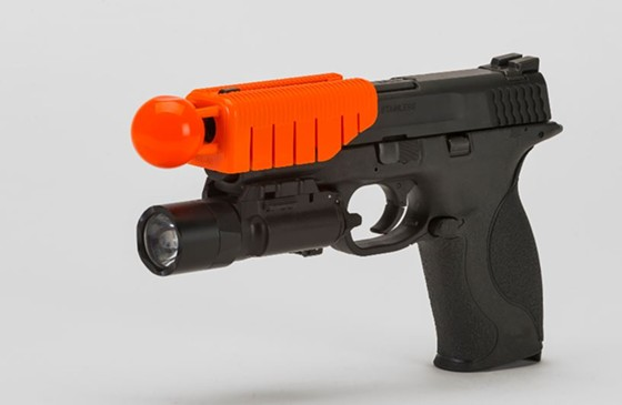 """Don't let it's cute nickname, the """"Bozo Round,"""" fool you. This pistol attachment will mess you up. - ALTERNATIVE BALLISTICS"""
