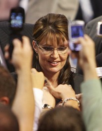 Sarah Palin in St. Louis last year, after the vice presidential debate in St. Louis. See more photos here - PHOTO: LYLE WHITWORTH