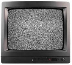 Prison TV creates some static.