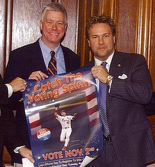 David Barklage (right) with Missouri Lt. Governor Peter Kinder - COURTESY OF FIRED UP! MISSOURI