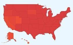 The national flu map, by Google.