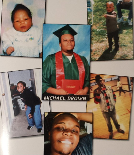 A page from the program at Michael Brown's funeral.