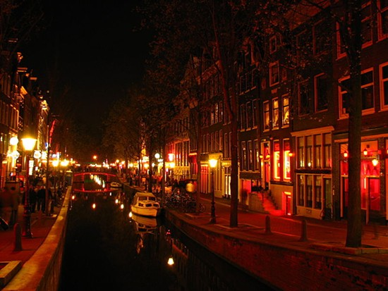 Red-light district in Amsterdam where prostitution is legal. - RUNGBACHDUONG PHOTO VIA
