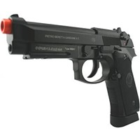 Airsoft guns can look real when you paint their tips black -- as Duff allegedly did before his heist.