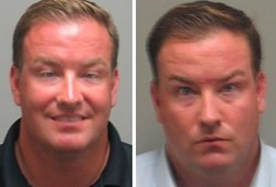 Comparing his 2010 mugshot (left) to Sunday's photo, it seems that even an allegedly pickled McLaughlin understands the gravity of the matter.