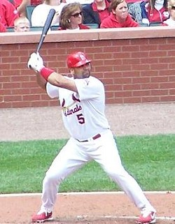 Albert Pujols earns $23,529 every time he strikes this pose. - WIKIMEDIA COMMONS