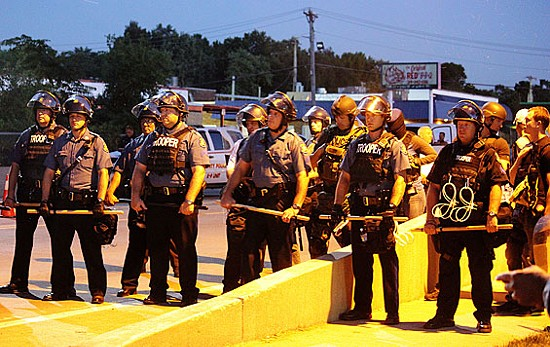 August 13 was among the most violent days during the unrest in Ferguson. Governor Nixon replaced St. Louis County and Ferguson police with Missouri Highway Patrol the very next day. - DANNY WICENTOWSKI