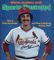 Hernandez as a bright-eyed, bushy-'stached Cardinal.