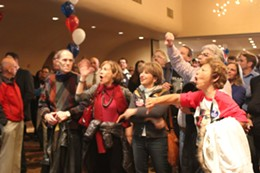 Big boos as Romney won Missouri by ten percent. - LEAH GREENBAUM