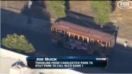 Joe Buck gets police escort through San Fran - IMAGE VIA