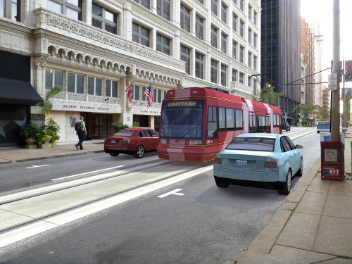 Streetcars on Olive Street? Maybe in a few years. - DOWNTOWN STL