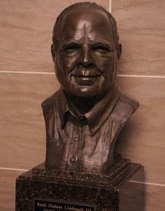 Rush's Limbaugh's gleaming and prominently displayed bust. - VIA HOUSE.MO.GOV