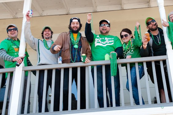 St. Patrick's Day is a good holiday for people who didn't get enough bead-throwing at Mardi Gras.