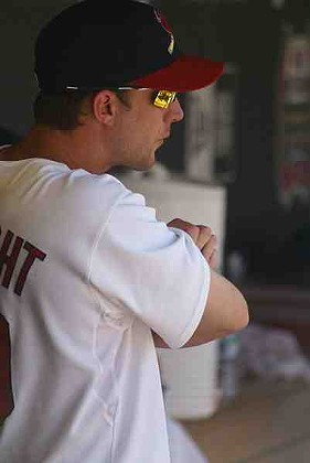 Adam Wainwright, contemplating the most likely candidates to beat him out for future Cy Young awards. - COMMONS.WIKIMEDIA.ORG