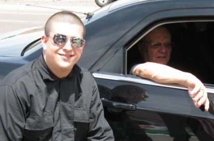 Arpaio posing with a neo-Nazi last May in Arizona - STORMFRONT.ORG VIA FEATHERED BASTARD