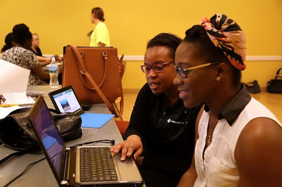 President Barack Obama praised St. Louis nonprofit LaunchCode for training and matching low-skill workers to high-paying tech jobs. - COURTESY OF LAUNCHCODE