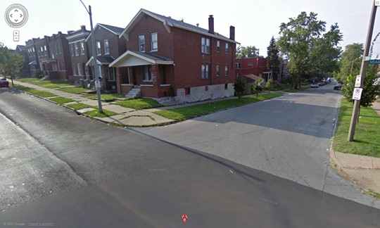 The 3600 block of Pennsylvania, where a body was found in a burning car on Friday.