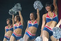 These are New England Patriot cheerleaders. Them, I like. The rest of the Pats' organization? Not so much.  - COMMONS.WIKIMEDIA.ORG