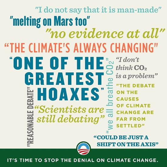 Climate-change denier quotes. - VIA FACEBOOK / ORGANIZING FOR ACTION
