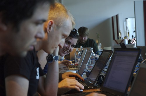 Want to be a happy hacker? Come to the hackathon. - ANDREWELAND ON FLICKR