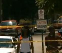 Tennessee Avenue after the shootings on Saturday. - VIA KSDK