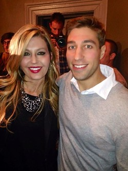 Melanie Moon poses with Ryan Ferguson, who was freed after ten years in prison. - MELANIE MOON ON FACEBOOK