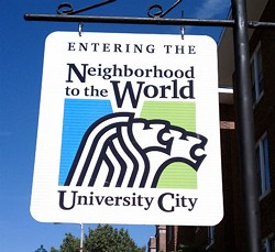 This is NOT an officially sanctioned logo, University City. AVERT YOUR EYES!